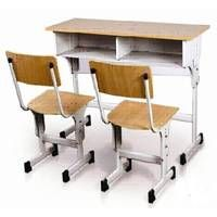Double student desk and chair thumbnail image