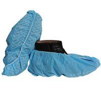 disposable shoe protection dispenser pp/pe/cpe printed blue shoe covers thumbnail image