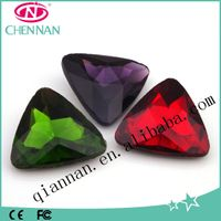 yiwu rhinestone factory A Grade Crystal triangle rhinestone with no hole