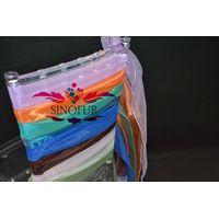 Chiavari peach color self tie chair cover