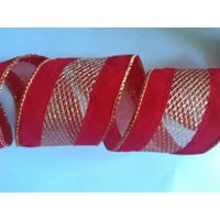 new christmas wire edge ribbon