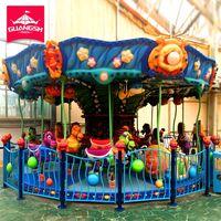 Funny Kids Theme Amusement Park Rides Carousel 28 Seats For Sale
