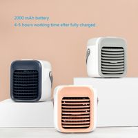 Mini Portable Air Cooler Air Conditioner 7 Colors LED USB Personal Space Cooler Fan Air Cooling Fan thumbnail image