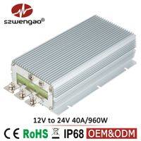 Szwengao DC to DC Converter 12V 24V 40A Step Up Power Supply for Mining Vehicles