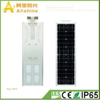 80W 3 Years Warranty LED Solar Outdoor Light with Integrated and Adjustable Time Controller