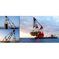 floating crane sell & charter crane barge 100t 200t 300t 400t 500t 600t 800t