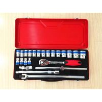 "24pc-Dr.1/2"" hand tool socket set with flexible handle"