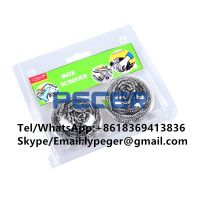 blister card stainless steel 410 430 scourer cleaning ball