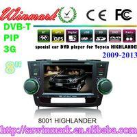 DH8001 car dvd player for Toyota Highlander with gps radio bluetooth ipod virtual 6 disc navigation  thumbnail image