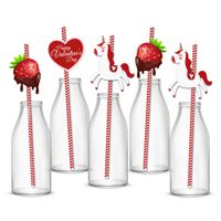 ST049 Happy Valentine's Day Party Favor party decoration paper Straws