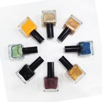 OEM custom logo nail polish manufacturer bulk flavored nail polish with glitter