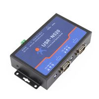 USR IoT 2 Serial port RS232 RS485 RS422 Ehternet Converter, Serial to Ethernet