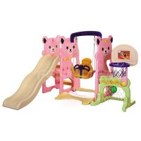 Small playground plastic slide with swing set for kids FY826303 thumbnail image