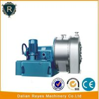 Horizontal peeler centrifuge separator
