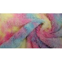 100%polyester tie dyed sherpa shu velveteen knitted fleece