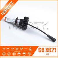 High Power G6 X621 H7 80W Single Beam Front LED Headlight 6500K White Auto LED Headlight