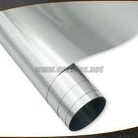1.52*20m Excellent Silver Stretch Chrome Car Vinyl Wrap