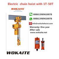 WOKAITE 5 ton electric chain hoist with chains
