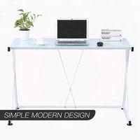 Simple Z-Sharped design Glass Computer Desk Corner Laptop Table Workstation Home Office Furniture thumbnail image