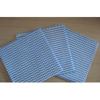 Blue mesh waved wood pulp laminated spunlace nonwoven fabric