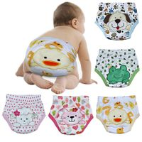 4 layer Baby Diapers Baby Training Pants Baby Boy Girl Underwears Briefs Infant Nappies Waterproof #