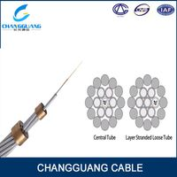 China Supplier Optical Fiber Composite Overhead Ground Wire Cables Opgw Cable Price