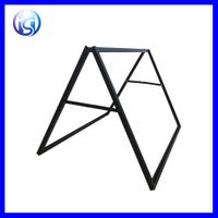 HS-H31 Double Sides A Frame Iron Steel Outdoor Advertising Poster Display stand thumbnail image