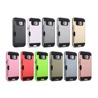 Samsung s7 mobile phone case with card shockproof colorful cellphone back cover