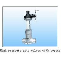 high pressure gate valve with bypass