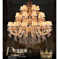 high quanlity  hotel project crystal  light modern chandelier led crystal pendant lighting for shop