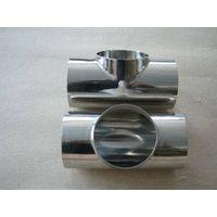 Mirror polished sanitary stainless steel tee