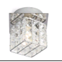 28W G9 IRON SQUARE SHAPE CRYSTAL WALL LIGHT-W58521