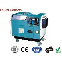 Open Type Power 5kva Air-cooled Diesel Driven Generator with 10 inch Wheels thumbnail image