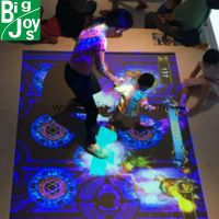 Trampoline new game interactive projection