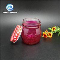 High quality empty food grade glass mason jar with metal lid for food storage jam honey