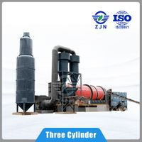 Rotary dryer triple stage multi-loop drying for Mineral Wastes/Slags Drying