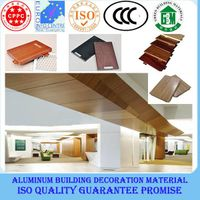 2015 new style wooden-like aluminum wall cladding