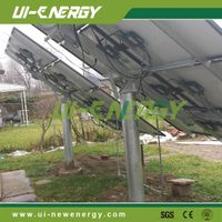 solar power plant mounting system pole mount brackets
