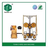 Hydraulic wire saw machine for cutting reinforced concrete