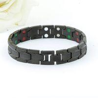 Black Steel Chain Adjustable Length Paracord Survival Bracelet