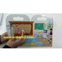 silicone removable sticker for play scene board,folu-up game board,dry wrip white board thumbnail image