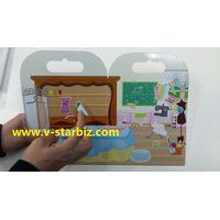 silicone removable sticker for play scene board,folu-up game board,dry wrip white board