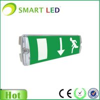 rechargeable green exit sign Emergency Lighting