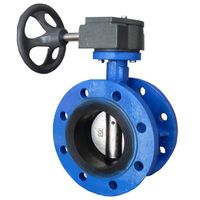 Water Double Flanged Cast Iron Concentric Butterfly Valve thumbnail image