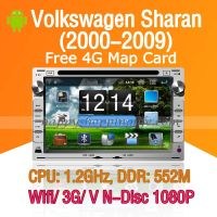 Android Car DVD Player for Volkswagen Sharan Navigation Wifi 3G