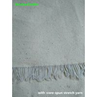 GOTS organic cotton elastic fabric with import rubber string