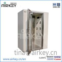 Cleanroom equipment air shower with hepa filters