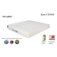 Hot selling OEM pocket spring hotel mattress, soft comfortable roll up mattress
