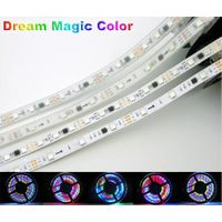 WS2811 IC Dream Magic Color RGB 5050 LED Strip,30LED/m 60LED/m IP20/ IP67