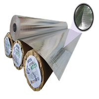 Fire Retardant Double Sided Reflective Aluminium Paper Foil, 8x8 Fiber Glass Scrim Reinforced (K731)